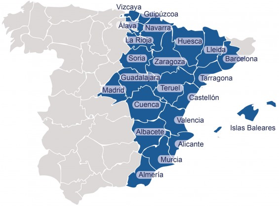 mapa Espala Hiterland