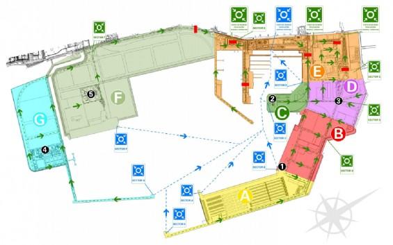 mapa del puerto de Castellón para emergencias portuarias