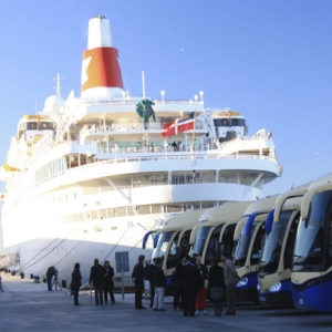 Proximidad flota autobuses para tours