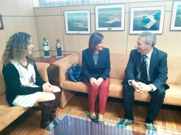 Responsables de la Fundación Globalis visitan al presidente de la Autoridad Portuaria de Castellón