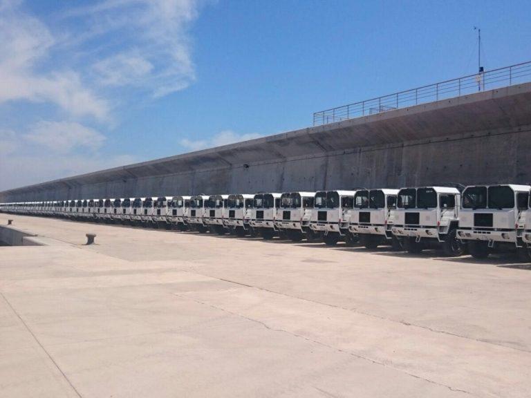 Camiones con destino al mar Rojo salen desde el puerto de Castellón