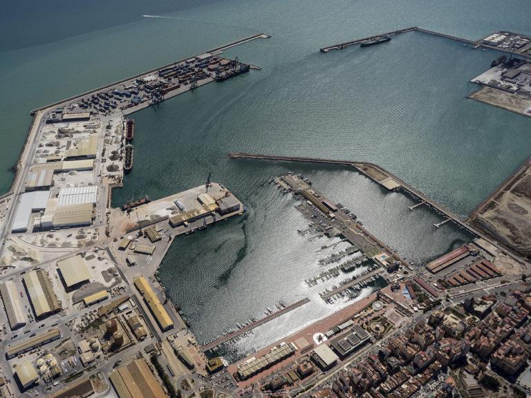 El puerto de Castellón desde el aire