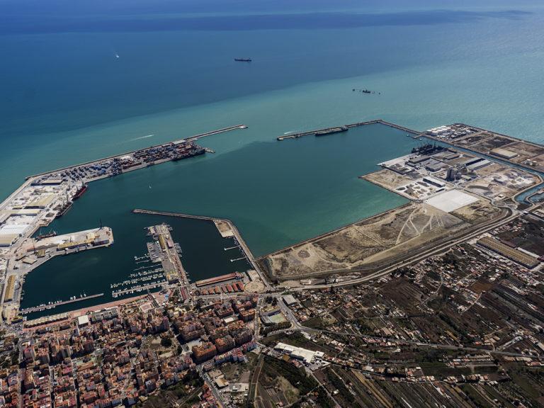 Vista aérea puerto de Castellón