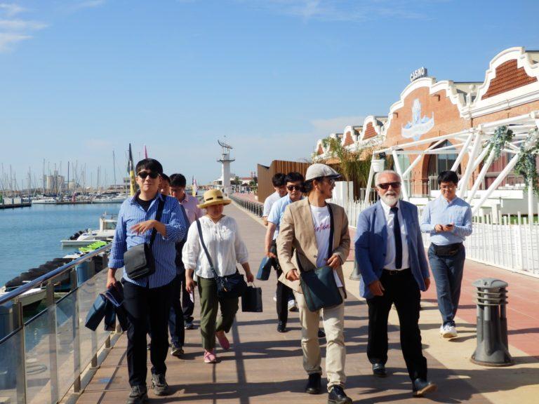Visita delegación coreana a PortCastelló
