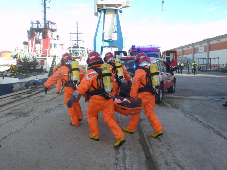 Simulacro de emergencia en PortCastelló