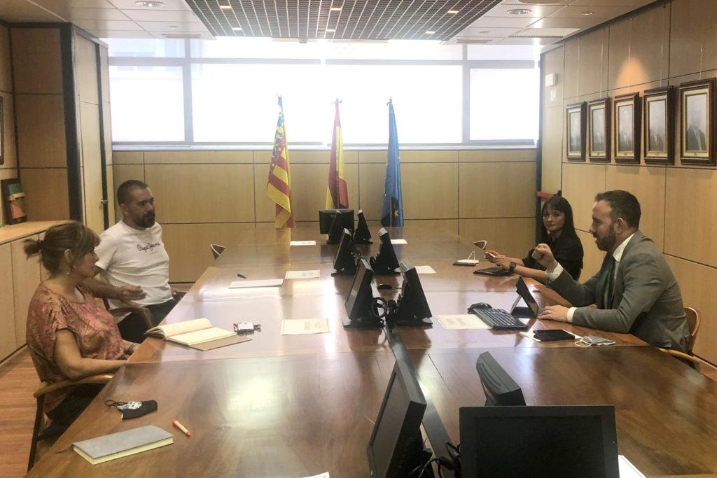 Reunión teniente alcalde del Grao