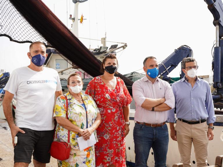 10-08-21 Puerta, Simó, Guillamón y Peña en la presentación del curso marinero pescador 2